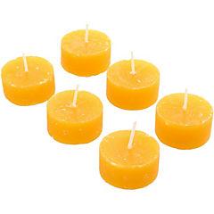 Set de tealights mango papaya 6 unidades Amarillo