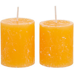 Set de velas mango papaya 2 unidades Amarillo