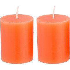 Set de velas pomelo naranja 2 unidades Naranja
