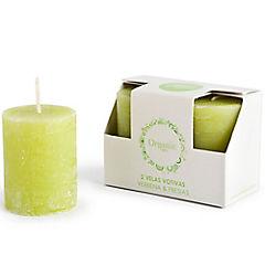 Set de velas verbena fresias 2 unidades Verde claro