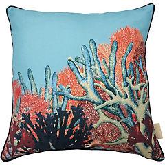 Cojín Jardín de Coral 43x43 cm poliéster