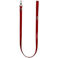 Trailla de cuero para perro 2x122 cm rojo