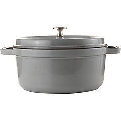 Cacerola hierro 24 cm 3,8 litros gris
