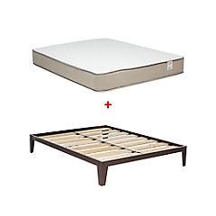 Combo Base cama 2 plazas + Colchón Alvacio Cisne
