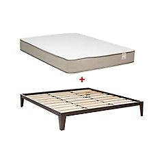 Combo Base cama king + Colchón Alvacio Cisne