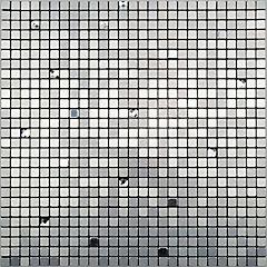 Mosaico auto-instalable aluminio Chip 30X30 cm