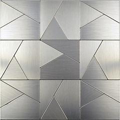 Mosaico auto-instalable aluminio irregular 30X30 cm