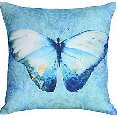 Cojín Mariposa azul acuarela 44x44 cm