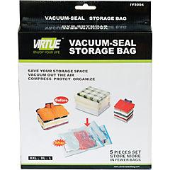 Set de bolsas para almacenar ropa 5 unidades Transparente