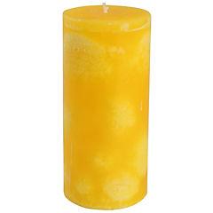 Vela pilar limón 15x7 cm Amarillo