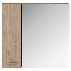 Botiquín con espejo 60x60x15 cm miel