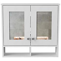Botiquín con espejo 64x69x15 cm blanco