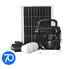 Kit energia solar radio y ampolleta