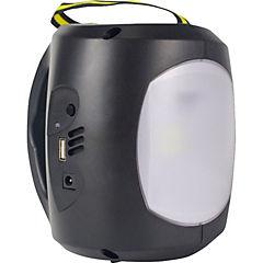Linterna solar emergencia negra