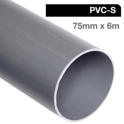 Tubo pvc sanitario para cementar 75 mm 6 m - Precio tubos pvc ...