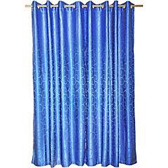 Cortina jacquard 4 piezas Elqui 140x220 cm azul