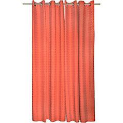 Set de cortinas poicas  4 piezas  140x220 cm azul