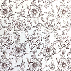 Papel Adhesivo English Rose Gris 2,7mt x 0,45 mt