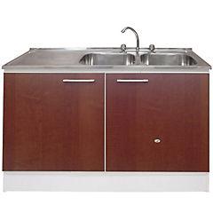 Conjunto mueble para lavaplato de 120 cm izquierdo