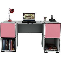 Escritorio Kab 22 blanco y rosado