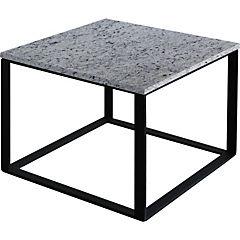 Mesa de centro Incubus 50x50x40 cm gris claro