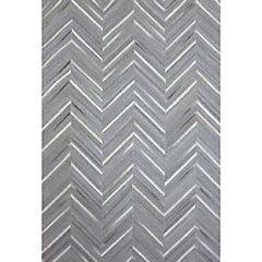 Alfombra cuero 160x230 cm 1660 grey