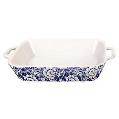 Fuente cerámica flores azules 30x24 cm