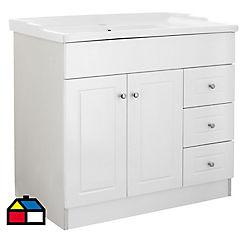 Mueble vanitorio 100x80x47 cm Blanco