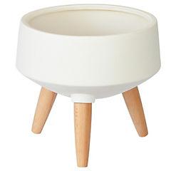 Macetero Sandy blanco 29x29x26 cm