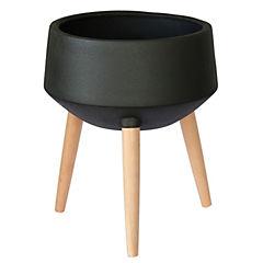 Macetero Sandy negro 36x36x31 cm