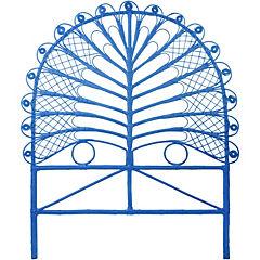Respaldo para cama 120x105x5 cm azul