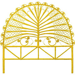 Respaldo para cama 140x150x5 cm amarillo