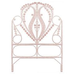 Respaldo para cama 120x105x5 cm rosado