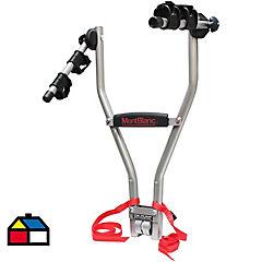 Portabicicleta hasta 2 bicicletas metal Gris