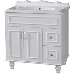 Mueble vanitorio 90x80x47 cm Blanco