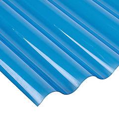 Policarbonato ondulado 0,5 mm 0,81x3 m azul