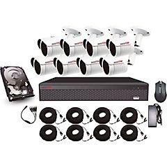 Kit de seguridad 8 canales y 8 cámaras Bullet HD