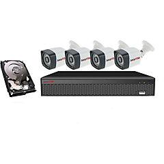 Kit de seguridad 4 canales y 4 cámaras Bullet HD