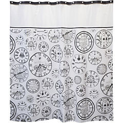 Cortina de baño Relojes 180x180 cm