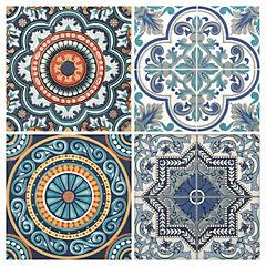 Azulejo Talavera azul juego 4 unidades
