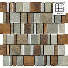 Malla 30x30 cm Stone/metal mix
