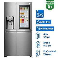 Refrigerador 601 litros side by side LS65SXN.ANSPECL Instaview