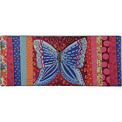 Respaldo Mariposa azul 2 plazas 170x10x70 cm