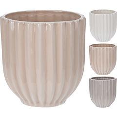Macetero de cerámica 13 cm, color surtido