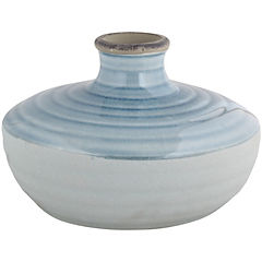 Jarrón de cerámica 19.5x13 cm, colores surtidos