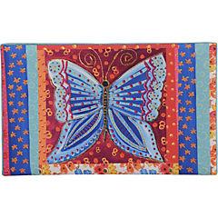 Respaldo Mariposa azul 1,5 plazas 115x10x70 cm