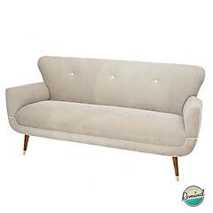 Sofa auburn 1,5mts crema