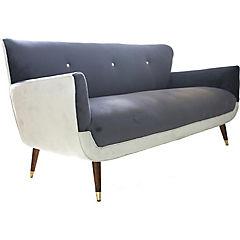 Sofa auburn 1,8mts gris- felpa crudo