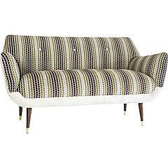 Sofa bentley 2mts circulos tierra- felpa beige