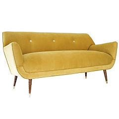Sofa bentley 2mts felpa oro